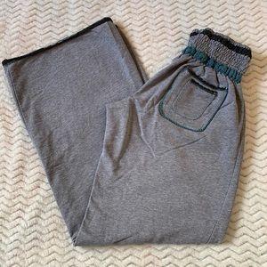Free People Gray Wide-Leg sweat Pants M